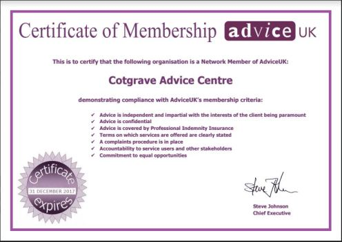 Advice UK membership