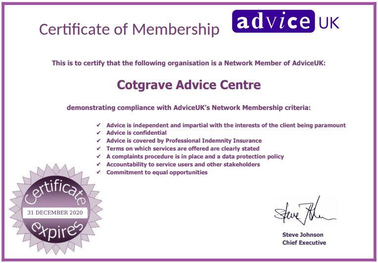 2020 Certificate